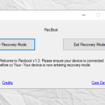 How to Enter Recovery Mode on iPhone using RecBoot
