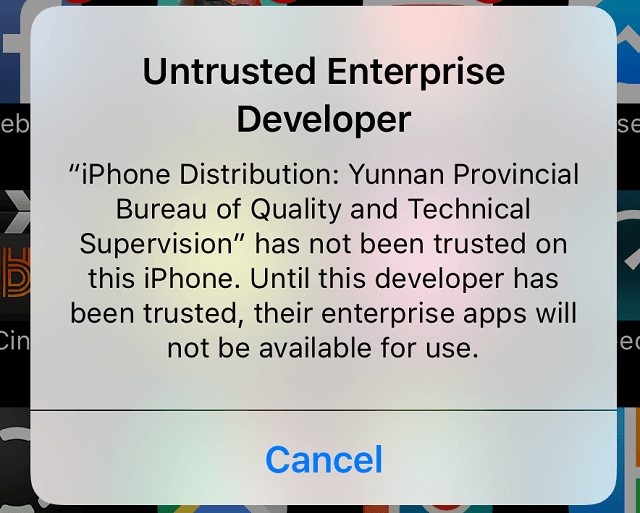 Untrusted Enterprise Developer Error on iPhone? Here's a Fix